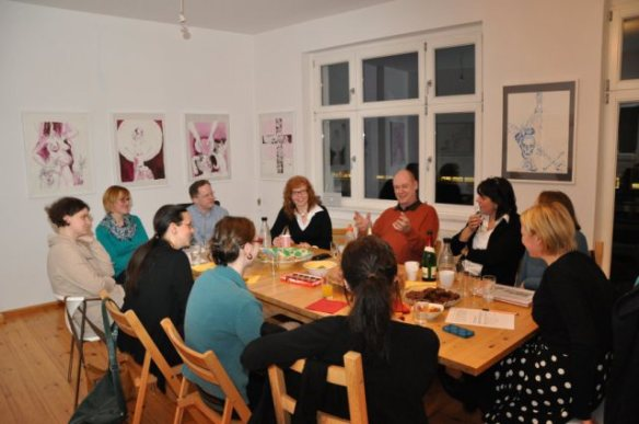 Dienstag, den 25.2. - Salon bei Susanne Haun (c) Foto von M.Fanke