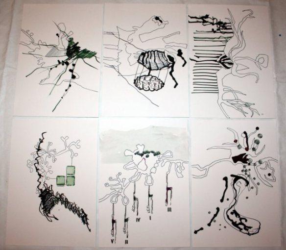 sammenzu (6teilig) – Version 5 (c) Zeichnung von J.Küster und S.Haun