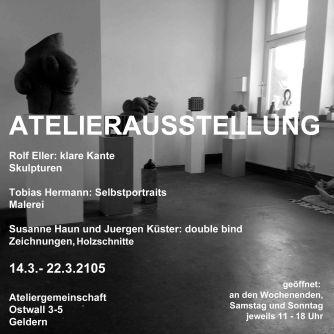 Einladung Atelierausstellung März 2015